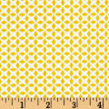 QT Fabrics Patchwork Farms Geo Grid Sunflower