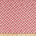 QT Fabrics Winter Garden Scalloped Geo Red