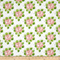 QT Fabrics Hatters Tea Party Rose Allover Ecru