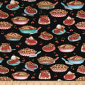 QT Fabrics Home Sweet Home Cherry Pies Black