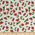 QT Fabrics Home Sweet Home Cherries White