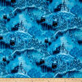 "36"" x 44"" Artworks VI Digitally Printed Magical Scenic Blue"