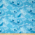 "QT Fabrics 36"" x 44"" Artworks VI Digitall Printed Magical Scenic Blue/White"