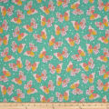 Quilting Treasures Confetti Blossoms Butterflies Dk. Seafoam