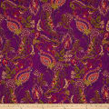 Ink & Arrow Ashtyn Dotted Paisley Purple