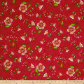 QT Fabrics Love Grows Here Flower Toss Red