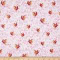 QT Fabrics Love Grows Here Birds Lt. Red