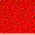 QT Fabrics On The Road Dots Tomato
