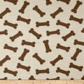 Crypton Home Dog Bones Jacquard Natural