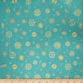 Collier Campbell Suzani Embroidery Linen Blend Azure