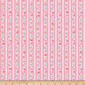 Riley Blake Butterflies & Berries Stripe Butterflies Pink