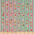 Riley Blake Butterflies & Berries Stripe Butterflies Mint