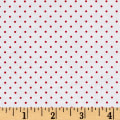 Riley Blake Butterflies & Berries Swiss Dot Red