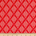 Cloud 9 Organic Bohemian Garden Flora Fancy Red