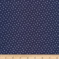 Cloud 9 Organic Interlock Knit Dots Navy