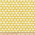 Cloud9 Fabrics Organic Interlock Knit Triangles Citron