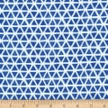 Cloud9 Fabrics Organic Interlock Knit Triangles Blue