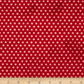 Shannon Minky Cuddle Swiss Dot Strawberry/Ivory