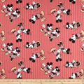 15 Yard Bolt Disney Mickey & Minnie Vintage Minnie & Mickey Stripe Red