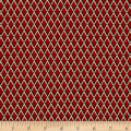 Maggy London Small Diamond Stretch Twill Maroon/Tan/Black