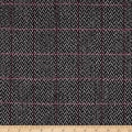 Windowpane Boucle Coating Black/Grey/Hot Pink