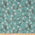 Wilmington Nature Study Flower Branches Teal