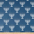 Menorah Jacquard Blue