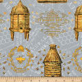 Wilmington A Bee's Life Beehive Allover Grey