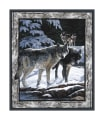 "Wild Wings Silver Shadows Wolf Wall 36"" Panel Multi"