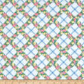 Penny Rose Mae Flowers Trellis Blue