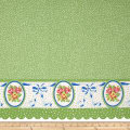 Penny Rose Mae Flowers Border Green