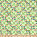 Penny Rose Mae Flowers Trellis Green