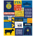 "Riley Blake FFA 43""Panel Blue"