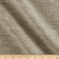 100% European Linen Houndstooth Green/Brown