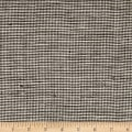 100% European Linen Houndstooth Chocolate