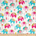Timeless Treasures Elephants Cream