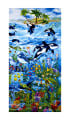 "Timeless Treasures Sealife Vacation 24"" Reef Panel Sea"