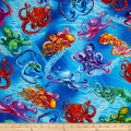 Timeless Treasures Sealife Vacation Octopus Ocean