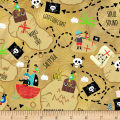 Timeless Treasures Treasure Island Treasure Map Sand
