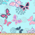 Shannon Studio Minky Cuddle Butterfly Wings Navy
