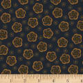 Kim Diehl Helping Hands Stylized Flower Dark Blue