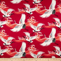 Telio Bloom Cotton Sateen Crane Red