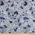 Telio Digital Linen Floral Blue