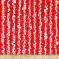 Makers Home Vertical Squiggle Red