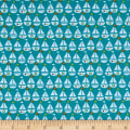 Seaside Sailboats Teal