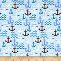 Seaside Anchors Light Blue