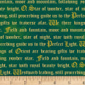 Three Kings Words Metallic Emerald