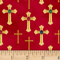 Three Kings Crosses Metallic Ruby