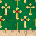 Three Kings Crosses Metallic Emerald