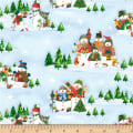 Winter Wishes Snowman Scenic Light Blue
